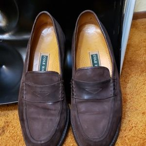 Brown penny loafers by Cole Haan size 10½